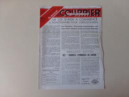 """Magazine """" Le Courrier Du Centre Du Cinéma """" N° 88 Avril 1949 - Magazines"""