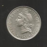 REPUBLICA DOMINICANA - 1/2 PESO - MEDIO PESO ( 1961 ) - Dominicaine