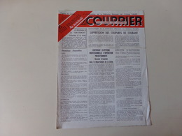 """Magazine """" Le Courrier Du Centre Du Cinéma """" N° 87 Avril 1949 - Magazines"""