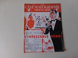 """Magazine """" La Cinématographie Française """" N° 1255 Avril 1948, """" L'impeccable Henri """" Avec Claude Dauphin - Magazines"""