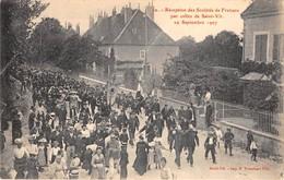 25-SAINT-VIT- RECEPTION DES SOCIETES DE FRAISANS PAR CELLE DE SAINT-VIT, 19 SEP 1907 - Altri Comuni