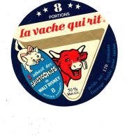 S  449  -ETIQUETTE DE FROMAGE- LA VACHE QUI RIT 8 PORTIONS    ARISTCCHATS - Cheese