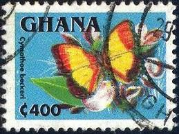 Butterfly, Cymothoe Beckeri, Ghana Stamp SC#1835 Used - Ghana (1957-...)