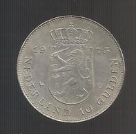 NETHERLANDS / OLANDA - JULIANA - 10 GULDEN (1973) AG - SILVER - [ 3] 1815-… : Regno Dei Paesi Bassi