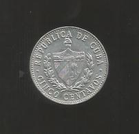 CUBA - 5 CENTAVOS (1968) - Cuba