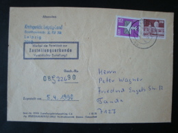 DDR, Dienstpost, Zustellungsurkunde, Kreisgericht Leipzig-Land, 5.4.1990 !! - Service