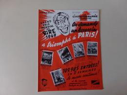 """Magazine """" La Cinématographie Française """" N° 1340 Décembre 1949 """" On Demande Un Assassin A Triomphé à Paris """" - Magazines"""