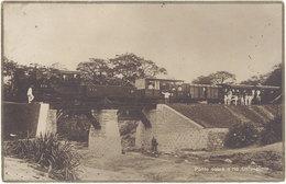 Cpa Angola – Ponte Sobre O Rio Calonguela ( Train ) - Angola