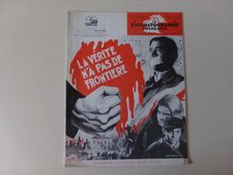"""Magazine """" La Cinématographie Française """" N° 1299 Février 1949 """" La Vérité N'a Pas De Frontière """" - Magazines"""