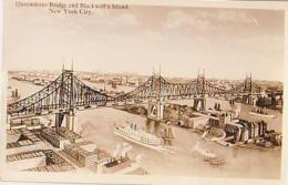 USA        318        NEW YORK.Queensboro Bridge And Black Well's Island ( Paquebot ) - Ponts & Tunnels