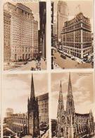 USA        334        NEW YORK.( 4 Views ) New Cunard , Konickerbocher....Trinity , St Patrick - Multi-vues, Vues Panoramiques