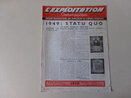 """Magazine """" L'exploitation Cinématographique """" N° 94 Décembre 1949 - Magazines"""