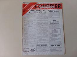 """Magazine """" Le Courrier Du Centre Du Cinéma """" N° 121 Décembre 1949 - Magazines"""