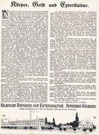 Original-Werbung/ Anzeige 1908 - 1/1 SEITE: EXTERIKULTUR / KOLBERGER ANSTALTEN FÜR EXTERIKULTUR - KOLBERG- Ca. 180 X 250 - Werbung