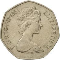 Monnaie, Grande-Bretagne, Elizabeth II, 50 New Pence, 1981, TTB+, Copper-nickel - 1971-… : Monnaies Décimales