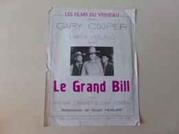 """Publicitaire """" Le Grand Bill """" Avec Gary Cooper ( Déchirure, Manque ) - Cinema Advertisement"""