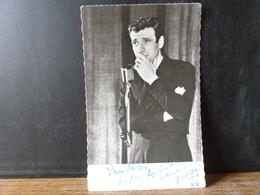 Photo Carte Postale Dédicacée Yves Montant - Chanteurs & Musiciens