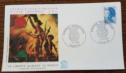 FDC 1987 - YT N°2485 - LIBERTE DE DELACROIX - BUREAUX TEMPORAIRES / PARIS - 1980-1989