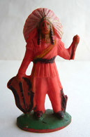 Figurine CYRNOS  INDII 2 1 CHEF INDIEN Fin 60's Pas Starlux Clairet (2) Cassé - Starlux