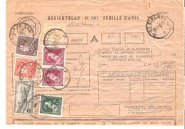 Postes Berichtblad-Feuille D'Avis Des Envois Assurés TP 710-832(2)-696-435B-434B Poortman+TPA 11(19) DC4 C.St.Niklaas - Belgique