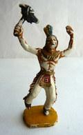 Figurine ACEDO INDIEN AVEC TOMAHAWK  60's Pas Starlux Clairet Cyrnos, Complet (2) - Starlux