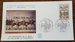 FDC 1987 - YT N°2492 - GUILLAUME LE CONQUERANT - CAEN - FDC