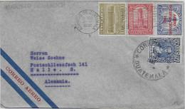 GUATEMALA - 1932 - ENVELOPPE Par AVION => HALLE (ALLEMAGNE) - Guatemala