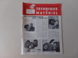 """Magazine """" Technique Et Matériel """" N° 1840 Octobre 1959 """" Un Centrifugeur Anti-embrun """" - Magazines"""
