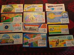 12 Billets Loterie Nationale - Billets De Loterie