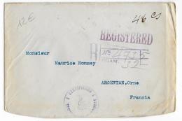 "HONDURAS - 1922 - ENVELOPPE RECOMMANDEE Avec TAXE MANUSCRITE ""46 Cs"" + GRILLE De POIDS ""32g"" => ARGENTAN (ORNE) - Honduras"