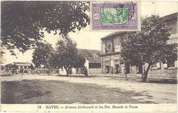 Cpa Afrique, Mali – Kayes – Avenue Archinard Et Les Ets Maurel - Mali
