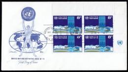 UNITED NATIONS New York - Scott #222 UN Headquarters (FDC120) - New York -  VN Hauptquartier