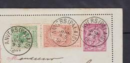Carte Lettre  N° 6  Emission 1884 + N° 45 Et 57  D' Anvers Palais Vers Hemer Allemagne - 1893-1900 Fine Barbe