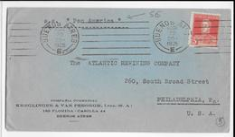 "ARGENTINA - 1925 - MARITIME - ENVELOPPEde BUENOS AIRES => PHILADELPHIA (USA) Par PAQUEBOT SS ""PAN AMERICA"" - Covers & Documents"