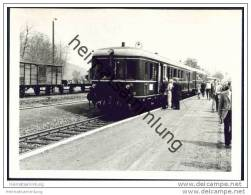 Malsfeld 1969 - Dieseltriebwagen Baureihe VT60 Baujahr 1939 - Foto 7,5cm X 10,5cm - Trains