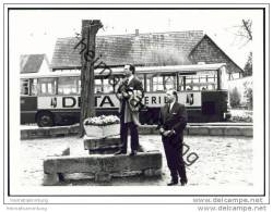 Am Bahnhof Schwebda 1969 - Bahnbus - Foto 7,5cm X 10,5cm - Trains