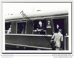 Am Bahnhof Schwebda 1969 - Foto 7,5cm X 10,5cm - Trains