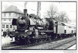 Tübingen - Sonderfahrt - Lokomotive 38 3650 - Foto 11cm X 18cm 60er Jahre - Eisenbahnen