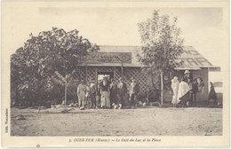 Cpa Afrique, Maroc – Oued Zem – 3 Le Café Du Lac Et La Place - Maroc