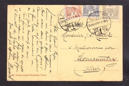 EXTRA-18-07-08 OPEN LETTER FROM HUNGARY TO FRANCE. INTERESTING FRANKATURE AND POST CARD. - Covers & Documents