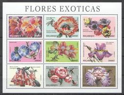 R385 MOCAMBIQUE FLOWERS FLORES EXOTICAS 1SH MNH - Plants