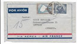 ARGENTINA - 1937 - ENVELOPPE Par AVION AIR FRANCE De BUENOS AIRES => LEIPZIG (ALLEMAGNE) - Argentina