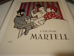ANCIENNE PUBLICITE COGNAC MARTELL 1954 - Alcoholes