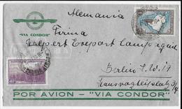 ARGENTINA - 1938 - ENVELOPPE Par AVION CONDOR De BUENOS AIRES => BERLIN (ALLEMAGNE) - Argentina