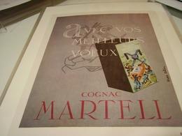 ANCIENNE PUBLICITE COGNAC MARTELL LE DRY PALE 1957 - Alcoholes