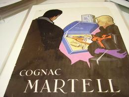 ANCIENNE PUBLICITE COGNAC MARTELL 1953 - Alcoholes