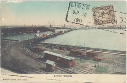 Cpa Amérique, Costa-Rica – Limon Wharfs ( Train ) - Costa Rica