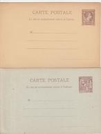 Monaco 2 Entiers Postaux Différents - Postal Stationery