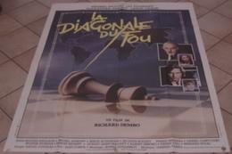 AFFICHE CINEMA ORIGINALE FILM LA DIAGONALE DU FOU Richard DEMBO PICCOLI ULLMANN 1984 LES ECHECS URSS - Posters