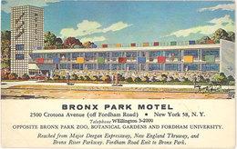 Cpa Amérique, Usa – New-York, Bronx Park Motel - NY - New York